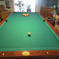 Beringer Pool Table & Ceiling Light