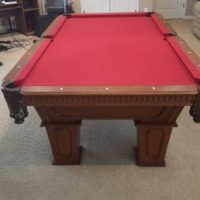 Cannon Red Felt  Pool Table