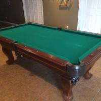 7' Long Slate Pool Table