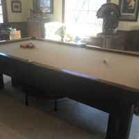 Antique Mahogany Pool Table