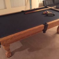 8ft Custom Slate Pool Table