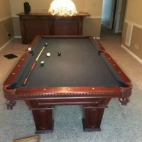 Great Deal!! Blue Felt Pool Table.