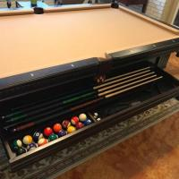8' Adams Slate Pool Table-Like New