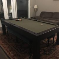 8' Pool Table Penelope By Imperial With Dining Table Top
